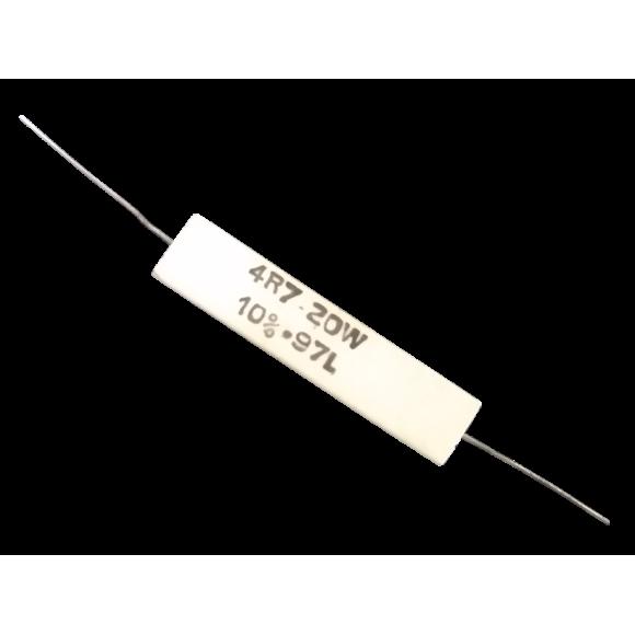 Resistor 20W 4R7 10% Cerâmico